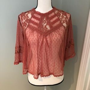 Free people lace top. Great condition!